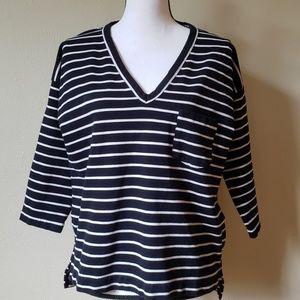 Madewell Cozy Stripe Sweatshirt Top